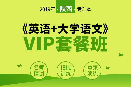 2019年陕西专升本《英语+大学语文》VIP套餐班