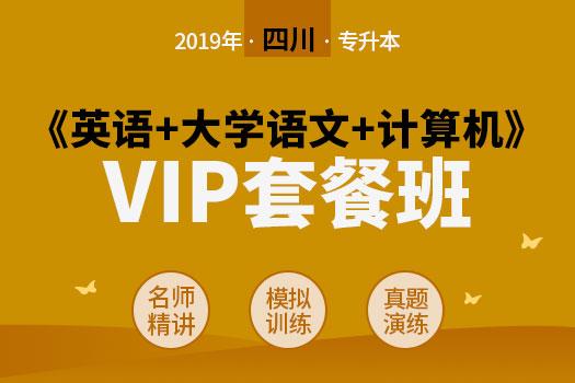 2019年四川省专升本《英语+大学语文+计算机》VIP套餐班