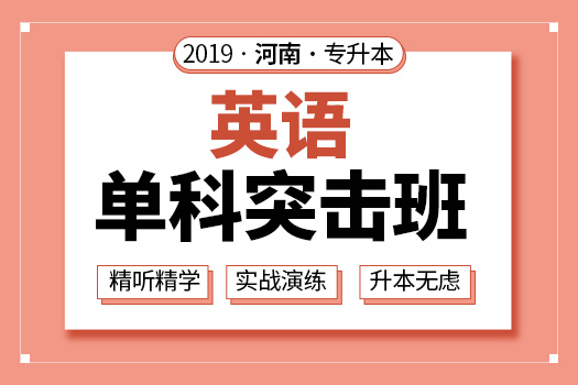 2019年河南专升本英语单科突击班