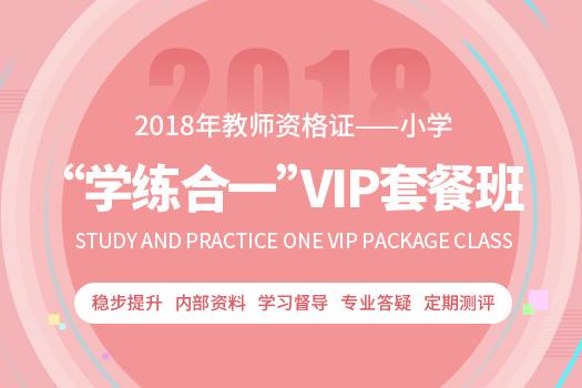 """2018年小学教师资格证""""学练合一""""VIP套餐班"""