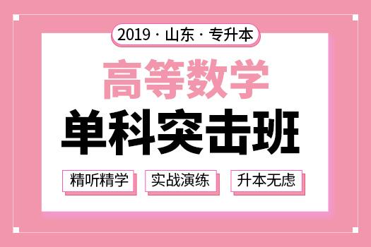 2019年山东专升本高等数学单科突击班