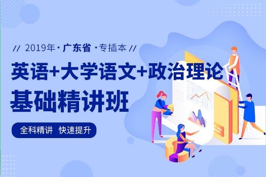 2019年广东专插本基础精讲班(英语+政治理论+大学语文)