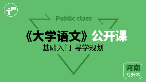 河南专升本大学语文公开课