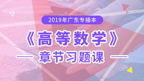 2019年广东专插本高等数学章节习题课
