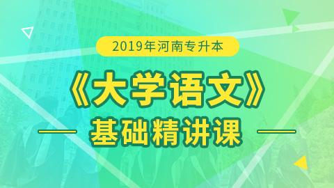 2019年河南专升本大学语文基础精讲课