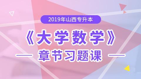 2019年山西专升本大学数学章节习题课