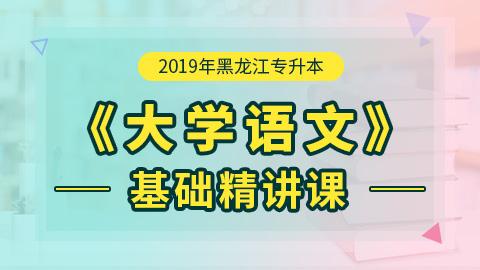2019年黑龙江专升本大学语文基础精讲