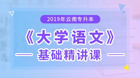 2019年云南专升本大学语文基础精讲