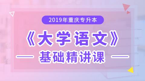 2019年重庆专升本大学语文基础精讲