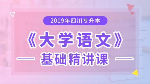 2019年四川专升本大学语文基础精讲课