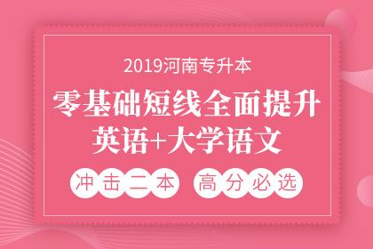 2019年河南专升本零基础短线全面提升·英语+大学语文
