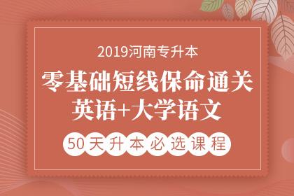 2019年河南专升本零基础短线保命通关·英语+大学语文