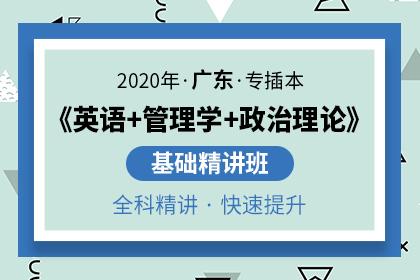 2020年广东专插本基础精讲班(英语+管理学+政治理论)