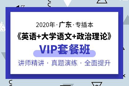 2020年广东专插本VIP套餐班·英语+大学语文+政治理论