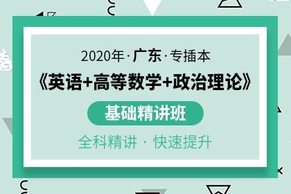 2020年广东专插本基础精讲班(英语+高等数学+政治理论)