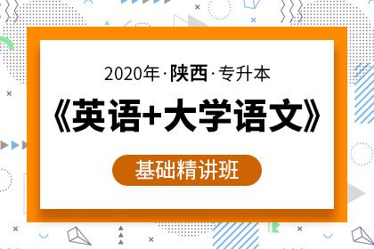 2020年陕西专升本《英语+大学语文》基础精讲班