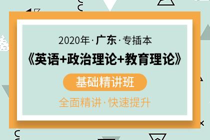 2020年广东专插本《英语+教育理论+政治理论》基础精讲班