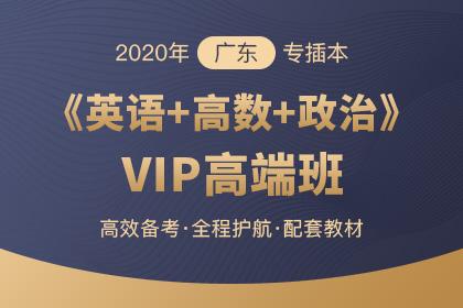 2020年广东专插本VIP高端班·英语+高等数学+政治理论