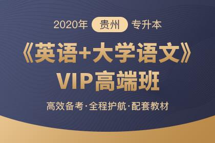 2020年贵州专升本《英语+大学语文》VIP高端班