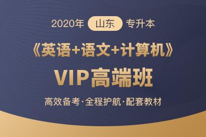 2020年山东专升本《大学语文+计算机+英语》VIP高端班