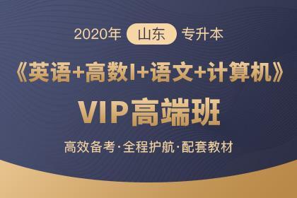 2020山东专升本《英语+计算机+大学语文+高数I》VIP高端班
