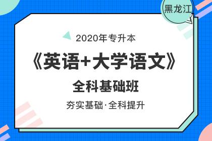 2020年黑龙江专升本《英语+大学语文》全科基础班