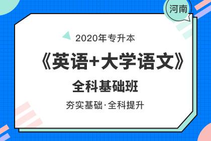 2020年河南专升本全科基础班·英语+大学语文