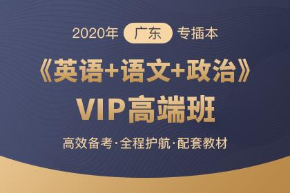 2020年广东专插本VIP高端班·英语+大学语文+政治理论