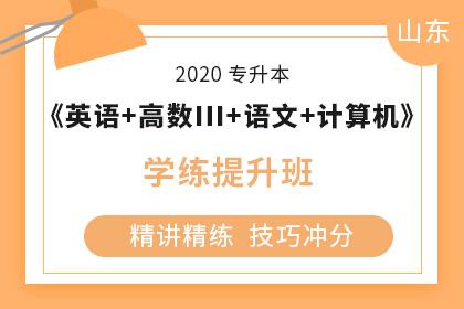2020年山东专升本《大学语文+英语+计算机+高数Ⅲ》学练提升班