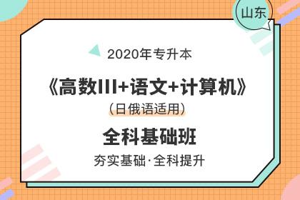 2020年山东专升本《语文+计算机+高数Ⅲ》全科基础班