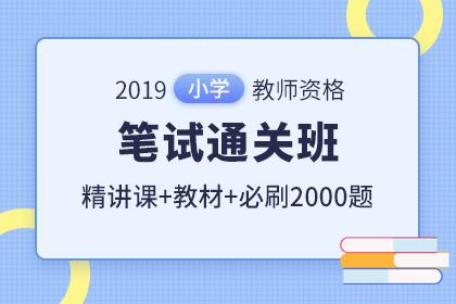 2019年小学教师资格笔试通关班