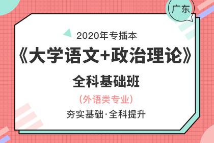 2020年广东专插本全科基础班▪大学语文+政治理论