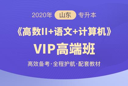 2020年山东专升本《大学语文+计算机+高数Ⅱ》VIP高端班