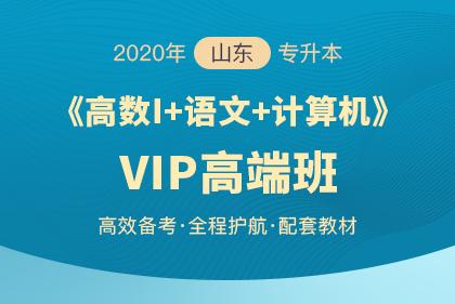 2020年山东专升本《大学语文+计算机+高数Ⅰ》VIP高端班