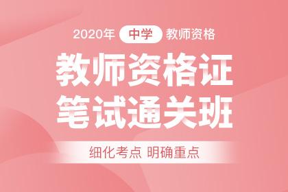 2020年中学教师资格笔试通关班(预售)