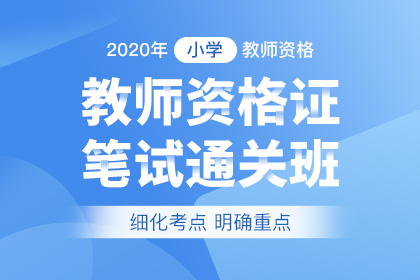 2020年小学教师资格笔试通关班(预售)