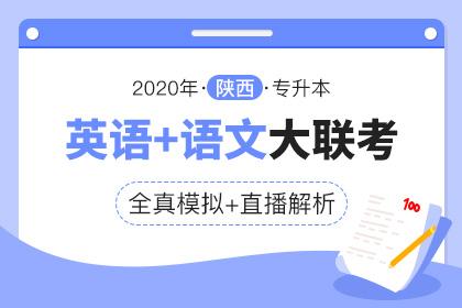 2020年陕西专升本全真模拟联考·大学语文+英语
