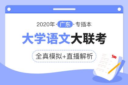 2020年广东专插本全真模拟联考·语文