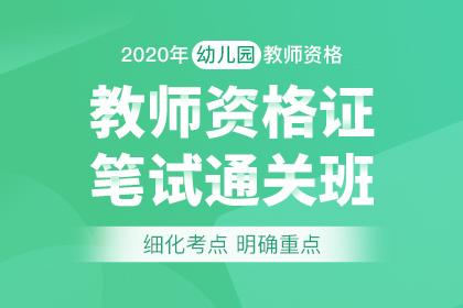 2020年幼儿园教师资格笔试通关班