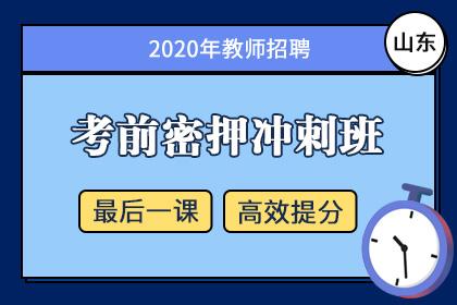 2020年山东教师招聘笔试考前密押冲刺班(更新中)