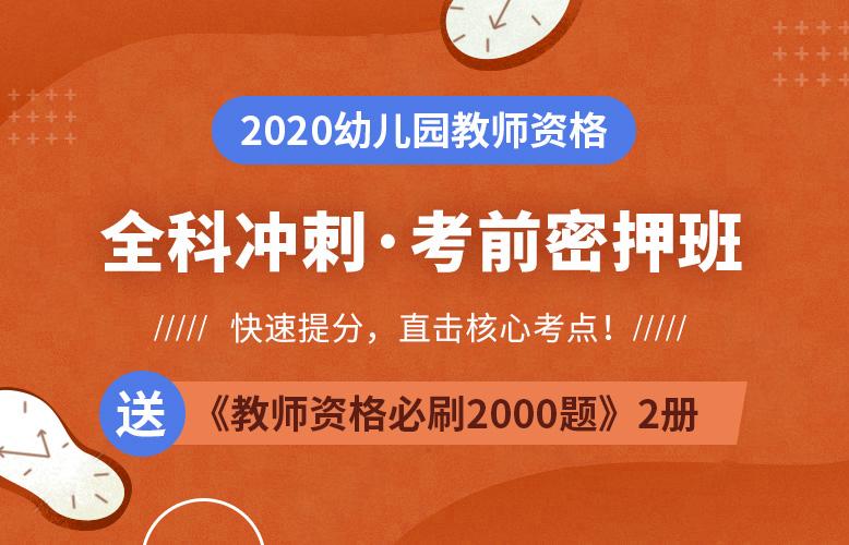 2020幼儿园教师资格考前密押班【快速提分,直击核心考点】(更新中)
