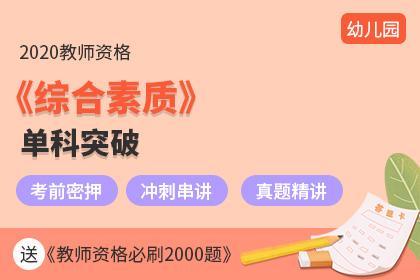 2020幼儿园教师资格《综合素质》单科突破(冲刺+真题)(预售)
