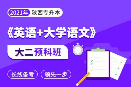 2021年陕西专升本《英语+大学语文》大二预科班