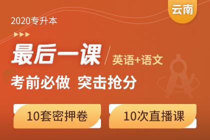 2020年云南专升本《英语+语文》考前最后一课
