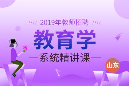 2019年山东教师招聘教育学系统精讲课