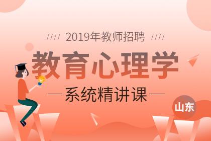 2019年山东教师招聘教育心理学系统精讲课