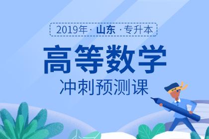 2019年山东专升本高等数学冲刺预测课