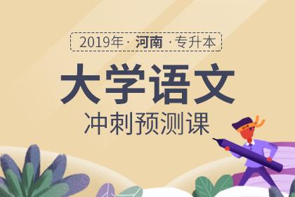 2019年河南专升本大学语文冲刺预测课(2019年4月正式开课)