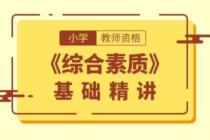 2019年小学教师资格综合素质基础精讲课