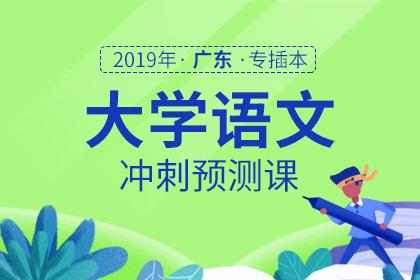 2019年广东专插本大学语文冲刺预测课